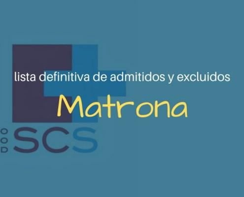 Lista definitiva admitidos oposiciones Matrona SCS
