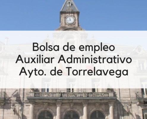 Bases bolsa Auxiliar Administrativo Torrelavega 2019
