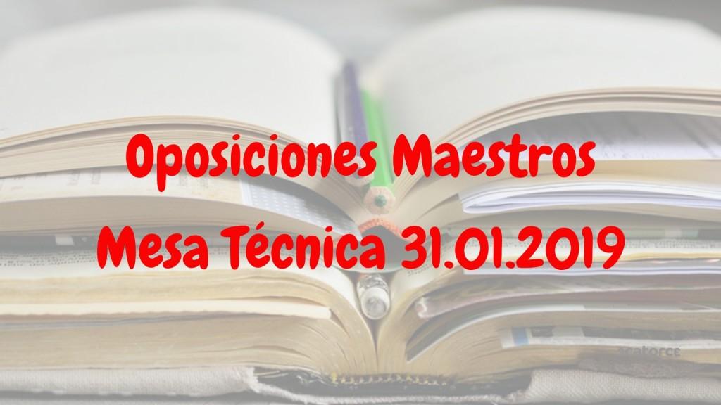 Mesa-tecnica-31-Enero-oposiciones-maestros-Cantabria-2019 Mesa tecnica 31 Enero oposiciones maestros Cantabria 2019