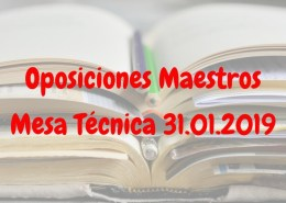Mesa-tecnica-31-Enero-oposiciones-maestros-Cantabria-2019 Curso Presencial Oposicion Maestro Cantabria