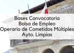 Bases-Convocatoria-bolsa-Operario-Comentidos-Multiples-Limpias-Cantabria-2019 Convocatoria Oposiciones Tecnico Planta Hidrologica