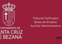 Tribunal-Calificador-bolsa-Auxiliar-Administrativo-Bezana-Cantabria Convocatoria Oposiciones Tecnico Planta Hidrologica