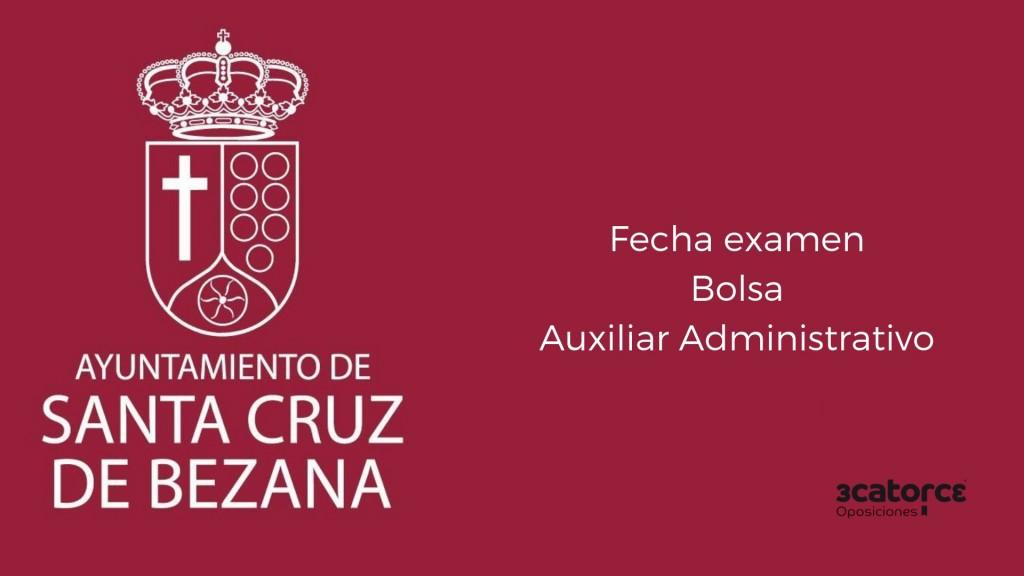 Fecha-examen-bolsa-Auxiliar-Administrativo-Bezana-2019 Fecha examen bolsa Auxiliar Administrativo Bezana 2019