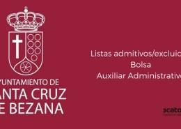 Lista-admitidos-bolsa-Auxiliar-Administrativo-Bezana-2019 Oposiciones Hacienda: plazas, requisitos y tipos de examen en la convocatoria