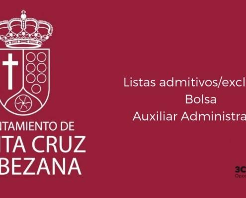 Lista admitidos bolsa Auxiliar Administrativo Bezana 2019