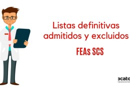 Lista-definitiva-admitivos-oposiciones-SCS-FEAs Confirmadas 150 plazas oposiciones auxiliar enfermeria SCS 2019