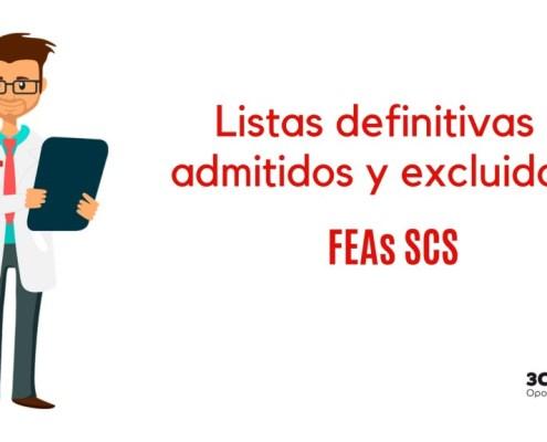 Lista definitiva admitivos oposiciones SCS FEAs
