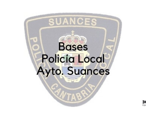 Bases oposicion Policia Local Suances 2019