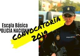 Convocatoria-Escala-Basica-Policia-Nacional-2019 Temario Policia Nacional