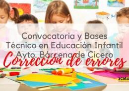 Correccion-errores-oposicion-Tecnico-Educacion-Infantil-Barcena-de-Cicero-Cantabria Bases 1 plaza Trabajador Social Camargo