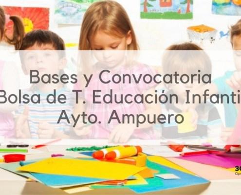 Bolsa Tecnico Educacion Infantil Ampuero