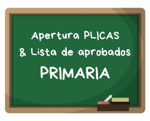 Convocatoria apertura PLICAS primaria Cantabria 2019 y listas aprobados