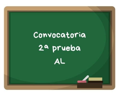 Convocatoria segunda prueba AL maestros Cantabria 2019