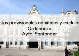 Lista-provisional-admitidos-Ordenanza-Santander-2019 Convocatoria 2 plazas Administrativo Cantabria Parlamento