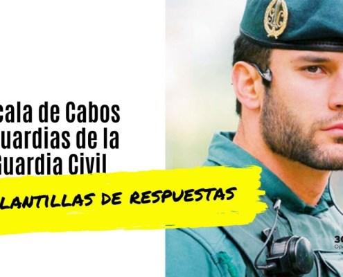 Plantilla respuestas examen Guardia Civil 2019