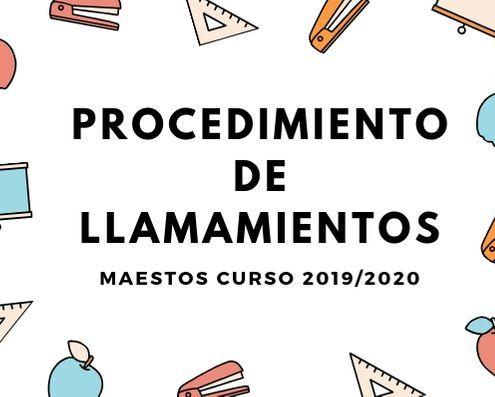Procedimiento llamamientos maestros Cantabria