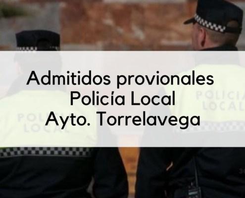 Admitidos provisionales Policia Local movilidad Torrelavega