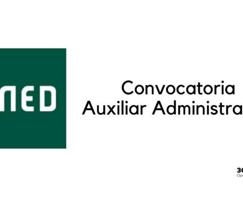 Convocatoria Auxiliar Administrativo UNED 2019