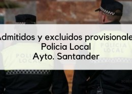 Lista-admitidos-provisionales-Policia-Local-Santander-2019 Modificacion bases comunes oposiciones Gobierno Cantabria