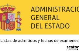Lista-provisional-admitidos-y-fecha-examen-oposiciones-Administracion-General-Estado-2019 Test y baterias de Examen Auxiliar Administrativo del Estado