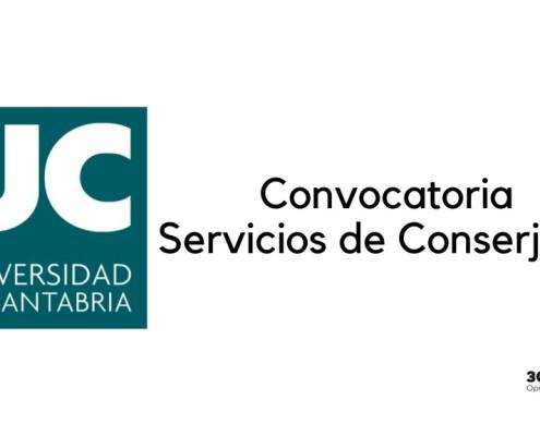 Convocatoria Conserje Universidad Cantabria 2020