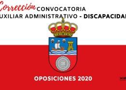 Correcion-Convocatoria-Auxiliar-Administrativo-Cantabria-2020 Convocatoria 92 Plazas Oposiciones Auxiliar Administrativo Banco de España