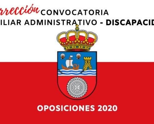 Correcion Convocatoria Auxiliar Administrativo Cantabria 2020