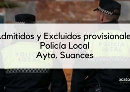 Lista-provisional-admitidos-Policia-Local-Suances-2020 36 plazas Policia Local Santander 2019