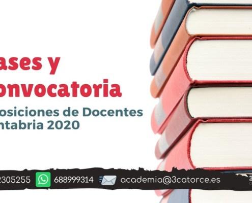 Bases y convocatoria docentes 2020 Cantabria
