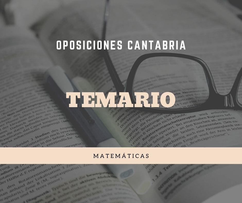 2-3 Temario oposiciones Matematicas Cantabria