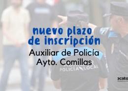 Se-retoma-la-oposicion-auxiliar-policia-Comillas Lista provisional admitidos Policia Local Suances 2020
