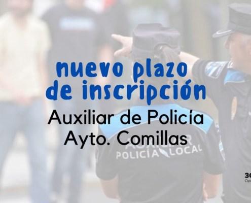 Se retoma la oposicion auxiliar policia Comillas
