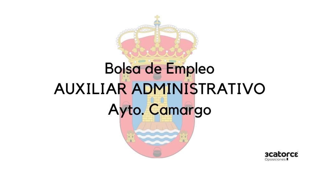 Convocatoria-bolsa-Auxiliar-Administrativo-Camargo Convocatoria bolsa Auxiliar Administrativo Camargo