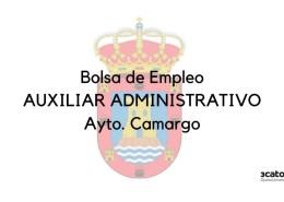 Convocatoria-bolsa-Auxiliar-Administrativo-Camargo Curso Online oposiciones Auxiliar Administrativo Cantabria 2019