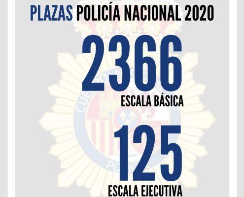 Aprobada en Consejo de Ministros la oferta de plazas Policia Nacional 2020