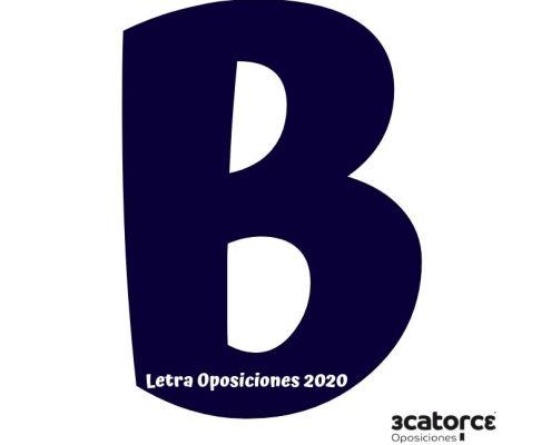 Letra oposiciones 2020