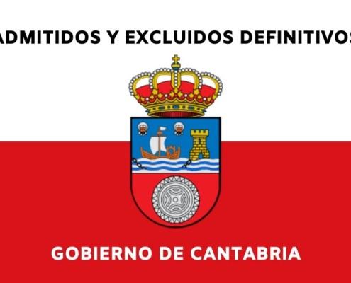 Admitidos definitivos oposiciones Gobierno de Cantabria