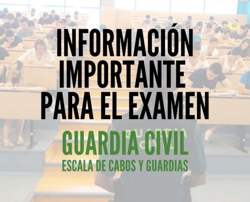 Aviso importante examenes guardia civil 2020
