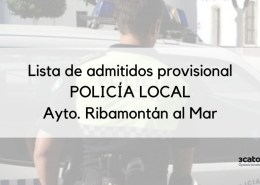 Lista-provisional-admitidos-oposicion-Policia-Local-Ribamontan-2020 Fecha segundo ejercicio oposicion Policia Local Santander
