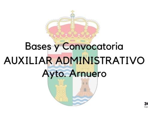 Bases y convocatoria de la oposicion auxiliar administrativo Arnuero 1 plaza no permanente y bolsa de empleo