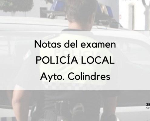 Publicada la resolución con las notas examen policia local Colindres