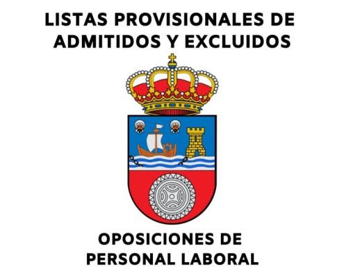 Listas personal laboral Cantabria admitidos y excluidos provisionales