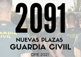 2091-PLAZAS-GUARDIA-CIVIL-2021 Nuevos cursos oposiciones fuerzas de seguridad y emergencias