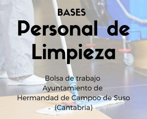 bolsa de empleo limpieza ayuntamiento Campoo de Suso Cantabria - bases