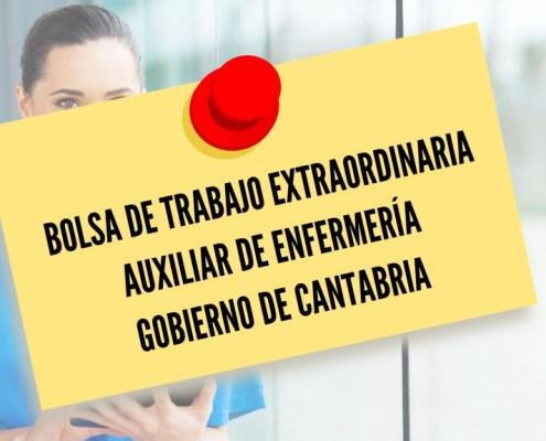 Admitidos y excluidos provisionales para la constitucion de una bolsa de trabajo auxiliar enfermeria Cantabria 2021