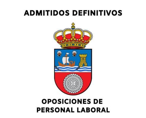 Listas de admitidos definitivos oposiciones personal laboral Cantabria 2021