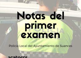Publicadas-las-notas-del-primer-examen-de-la-oposicion-policia-local-Suances-Cantabria OPE 2021 Ayuntamientos 3 plazas Policia Local Reinosa Cantabria