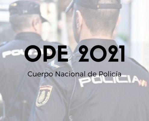 oferta empleo publico policia nacional 2021