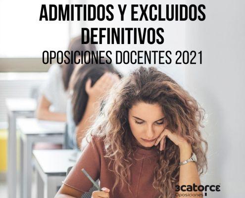 Admitidos definitivos oposiciones secundaria Cantabria 2021