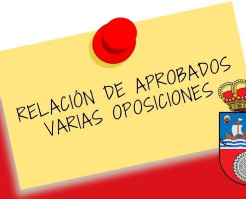 Relacion de aprobados en varias oposiciones Gobierno de Cantabria